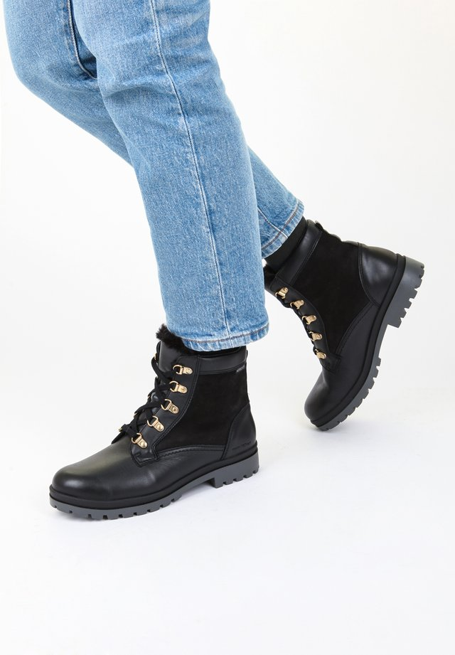 SCHUHE ZORAH - Lace-up ankle boots - black