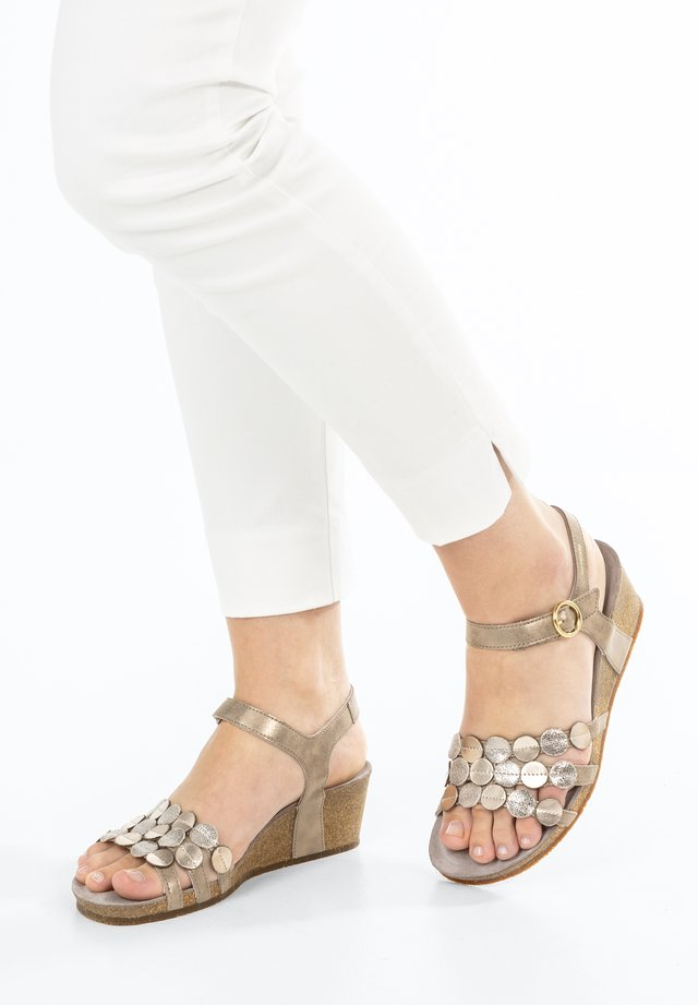 Wedge sandals - dark taupe