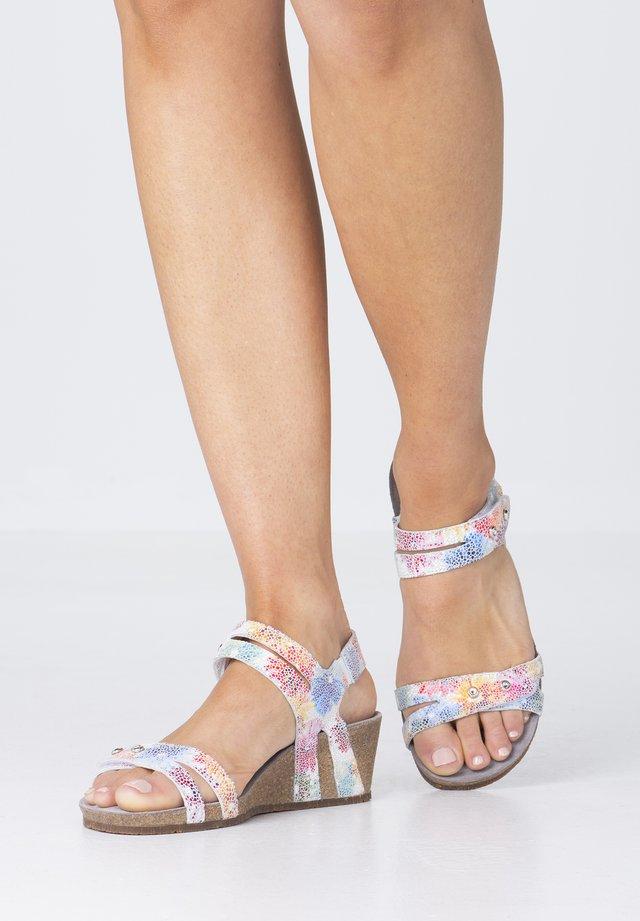 Wedge sandals - multicoloured