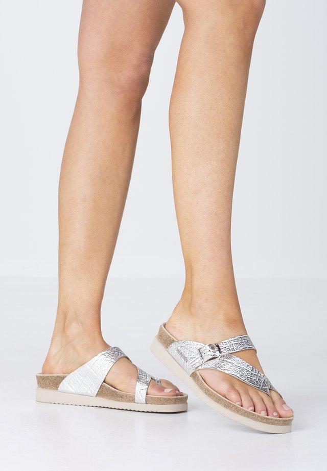 ZEHENTRENNER HELEN - T-bar sandals - silver