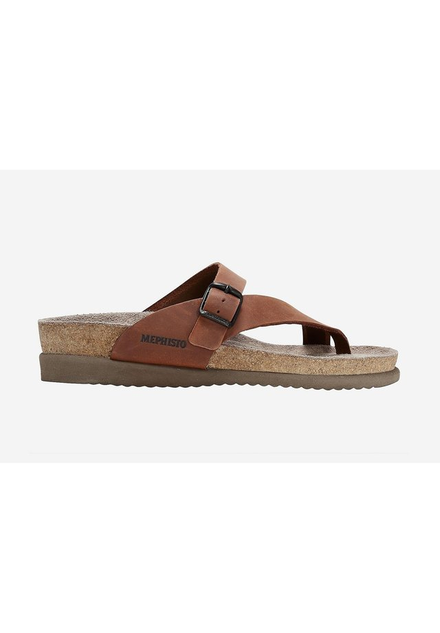 T-bar sandals - chestnut