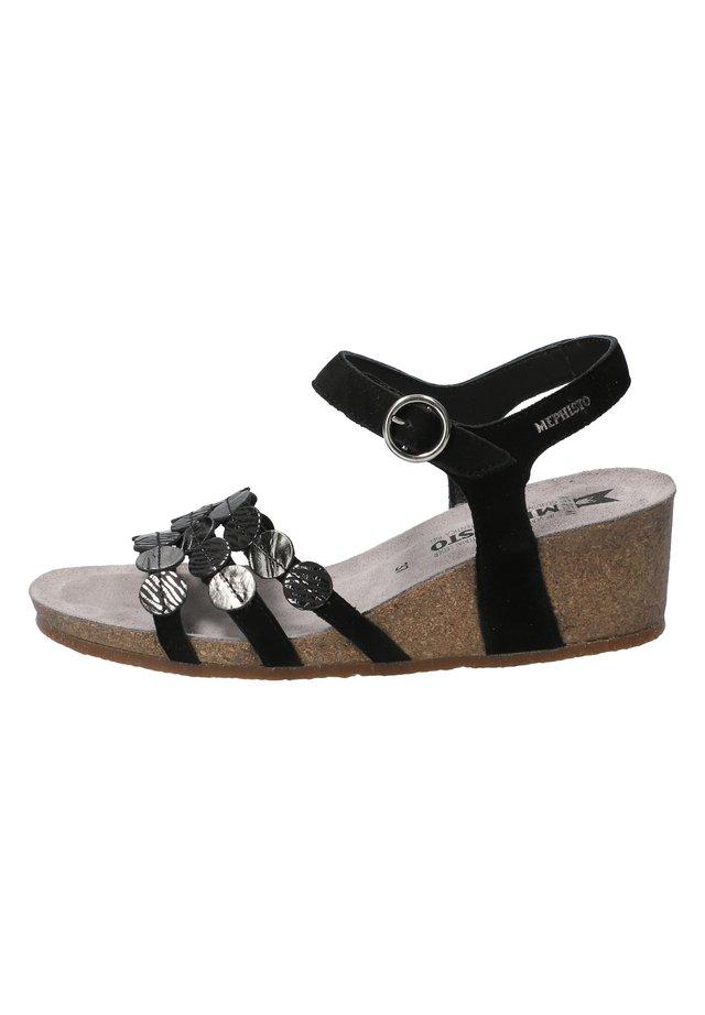 MATILDE - Wedge sandals - black