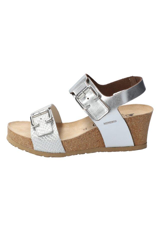 LISSANDRA - Wedge sandals - nickel
