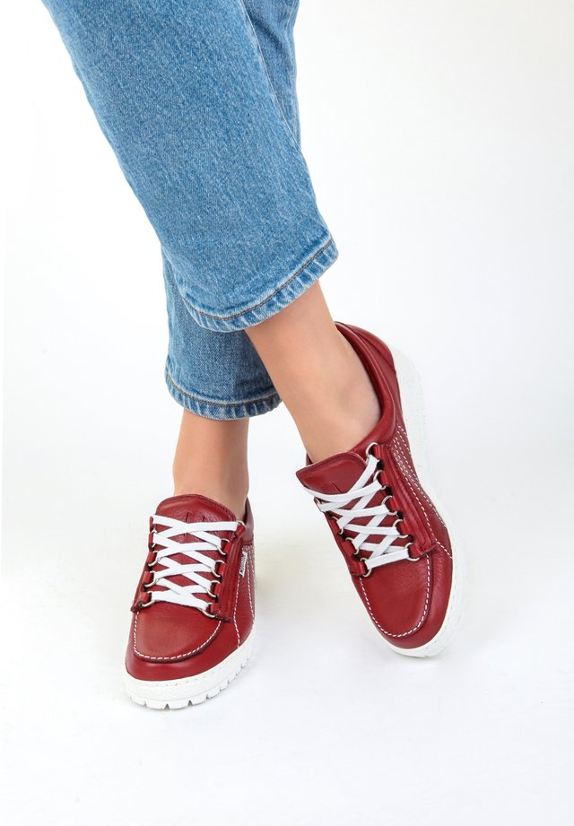 Casual lace-ups - oxblood