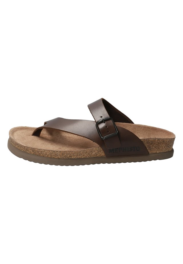 T-bar sandals - dark brown