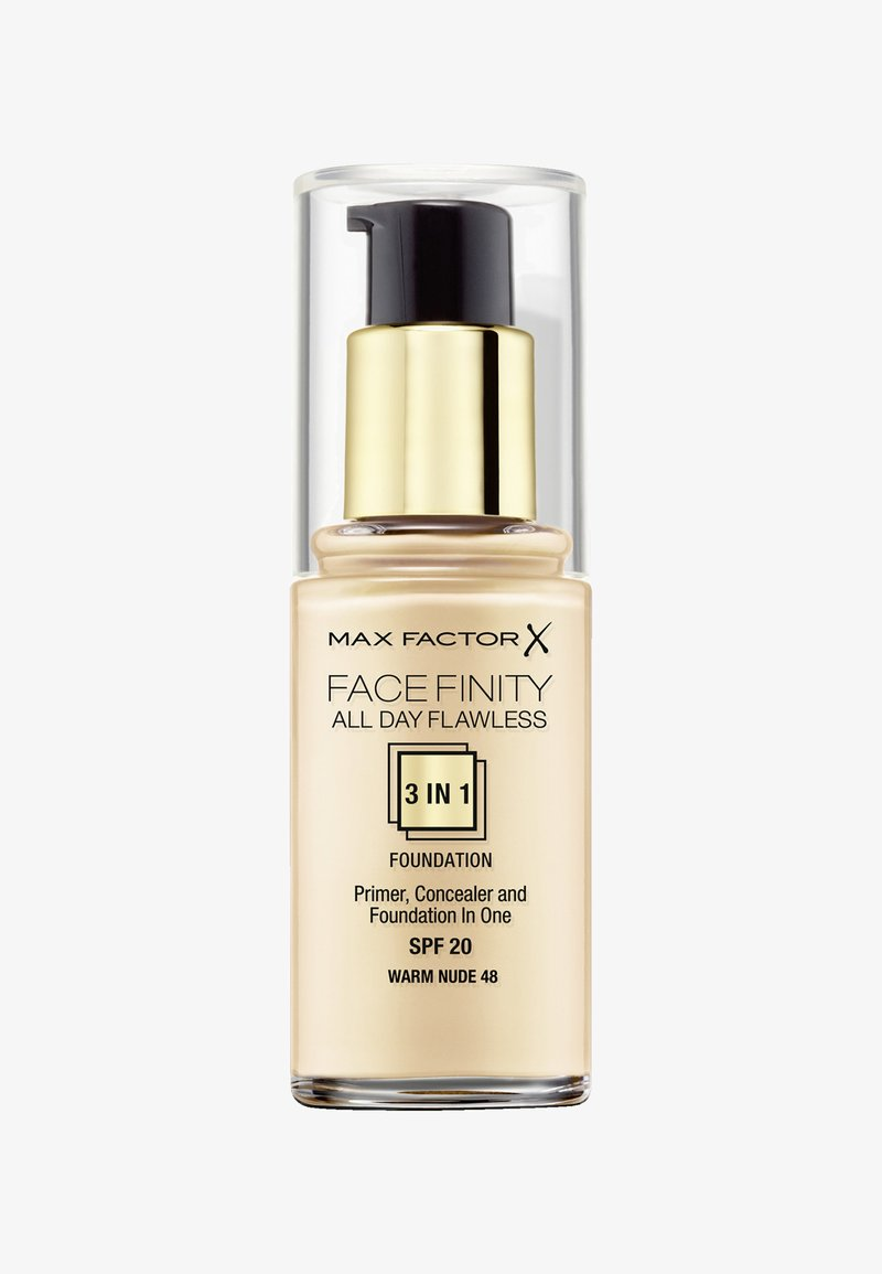Max Factor - ALL DAY FLAWLESS 3 IN 1 FOUNDATION - Podkład - 48 warm nude
