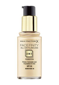 Max Factor - ALL DAY FLAWLESS 3 IN 1 FOUNDATION - Podkład - 48 warm nude - 1