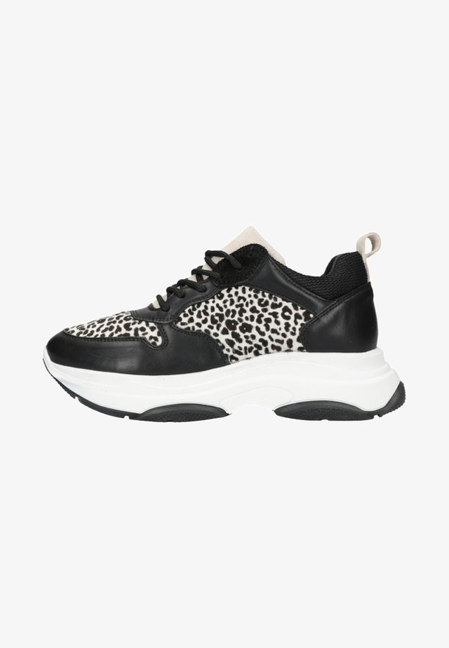 MIT LEOPARDENMUSTER - Sneakers laag - black