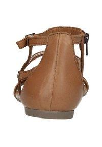 Manfield - Ankle cuff sandals - cognac - 3