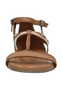 Manfield - Ankle cuff sandals - cognac - 5