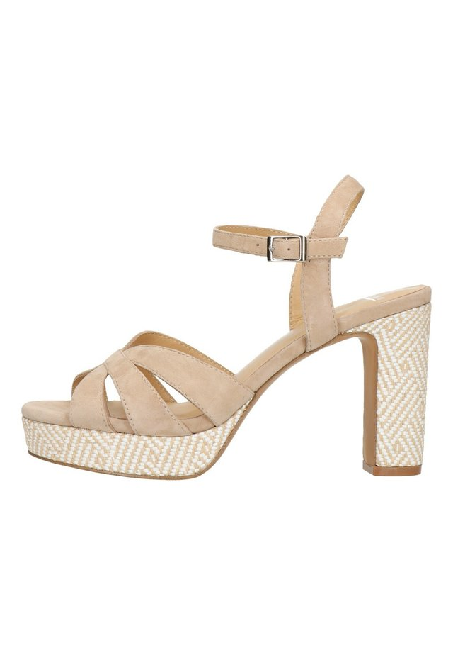 High heeled sandals - taupe