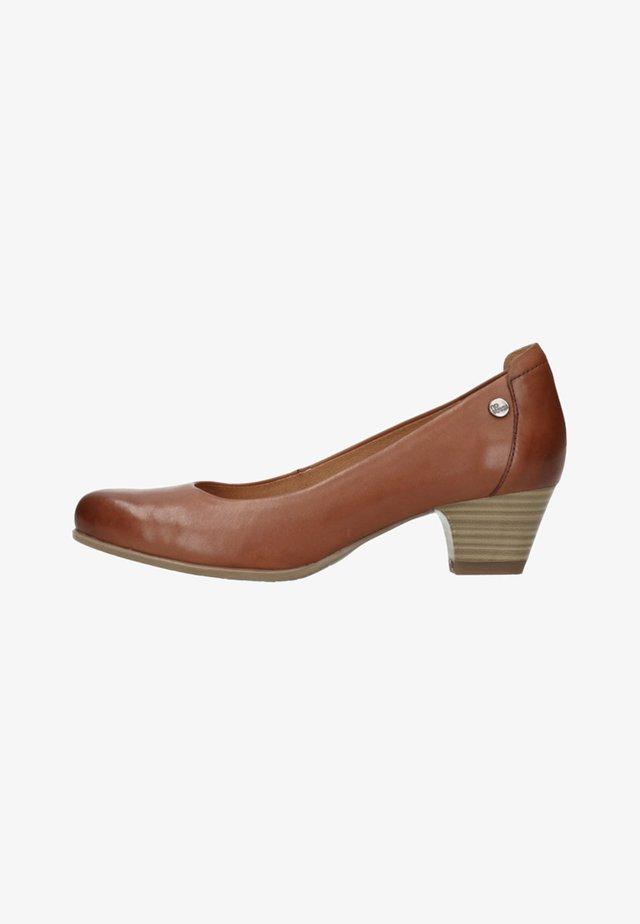 MIT KLEINEM ABSATZ - Classic heels - cognac