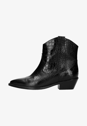 MIT KROKOMUSTER - Bottines - black