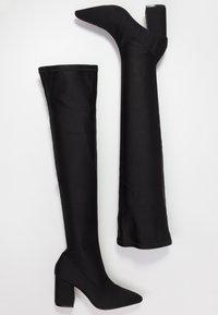 Miss Selfridge - POINTED - Stivali sopra il ginocchio - black - 3