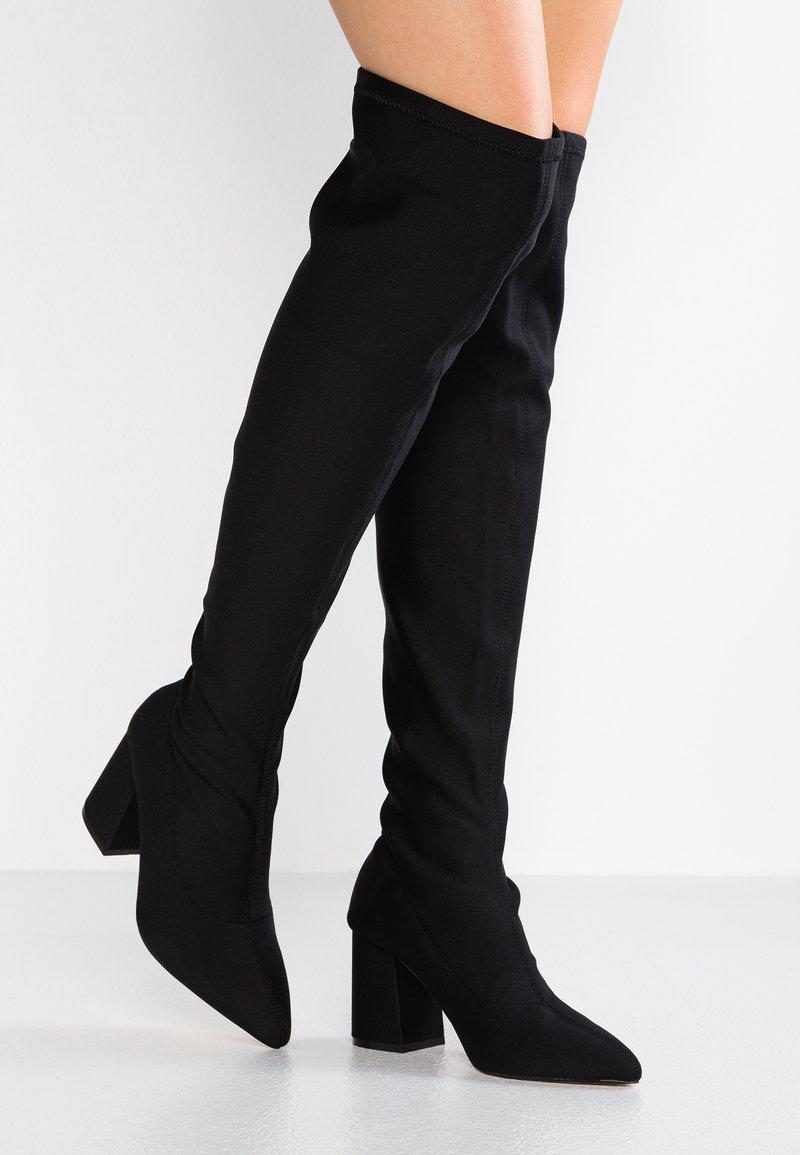 Miss Selfridge - POINTED - Stivali sopra il ginocchio - black
