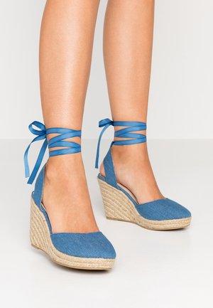 WESLEY - Sandály na vysokém podpatku - denim