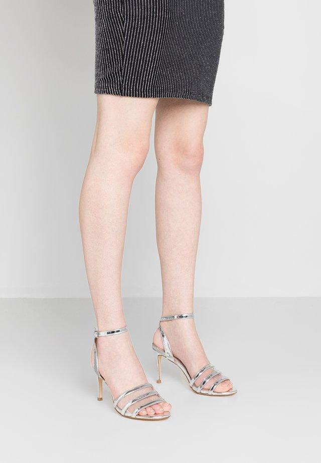 SENTARA - High heeled sandals - silver