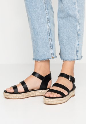 WINTER - Platform sandals - black
