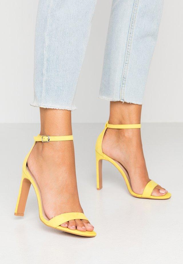 SALLIE - High heeled sandals - yellow