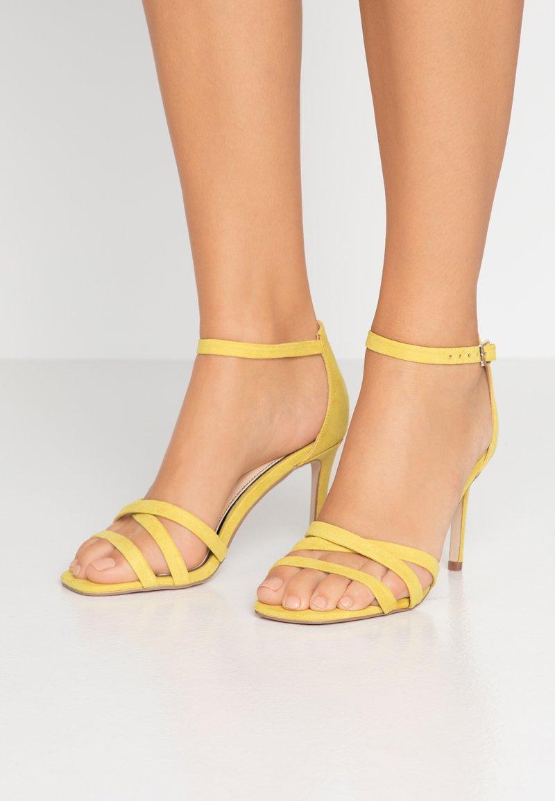 Miss Selfridge - SADIE STRAP MID HEIGHT  - High heeled sandals - lime
