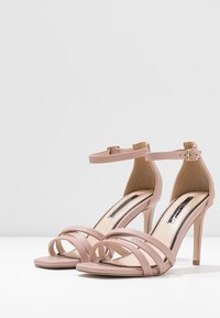 Miss Selfridge - SADIE STRAP MID HEIGHT  - Sandalen met hoge hak - pink