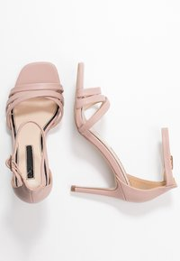 Miss Selfridge - SADIE STRAP MID HEIGHT  - Sandalen met hoge hak - pink - 3