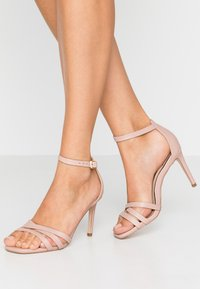 Miss Selfridge - SADIE STRAP MID HEIGHT  - Sandalen met hoge hak - pink - 0