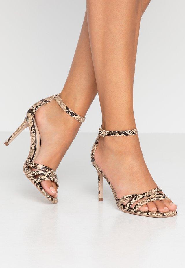 SADIE STRAP MID HEIGHT  - High heeled sandals - grey