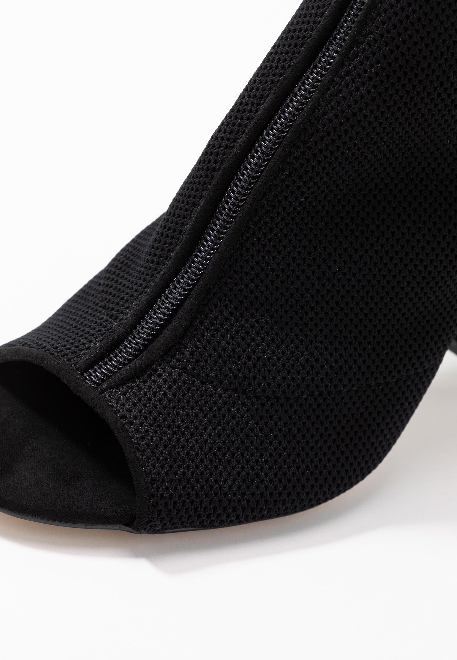 Miss Selfridge Knitted - Sandalen Met Hoge Hak Black