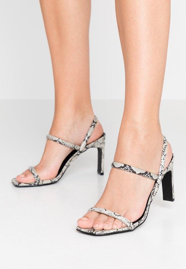 STYLISH - High heeled sandals - grey