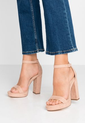 SIREN - Sandály na vysokém podpatku - nude