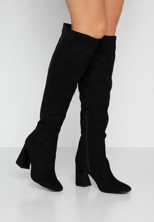 OVAL - High heeled boots - black