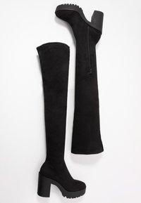 Miss Selfridge - OZZY - Kozačky na vysokém podpatku - black - 3