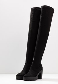 Miss Selfridge - OZZY - Kozačky na vysokém podpatku - black - 4