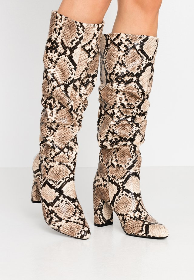 OXFORD - Boots - beige / black
