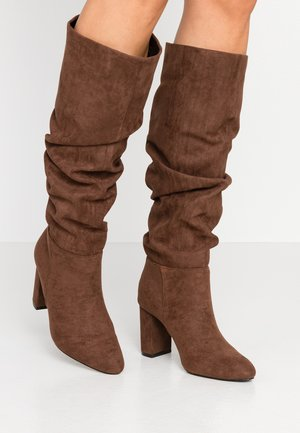OXFORD - Botas - chocolate