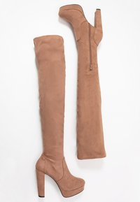 Miss Selfridge - PLATFORM STRETCH HIGH - High heeled boots - camel - 3