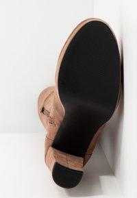 Miss Selfridge - PLATFORM STRETCH HIGH - High heeled boots - camel - 6