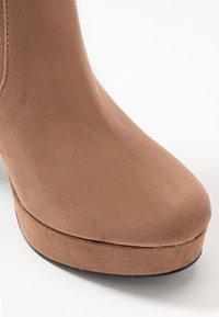 Miss Selfridge - PLATFORM STRETCH HIGH - High heeled boots - camel - 2