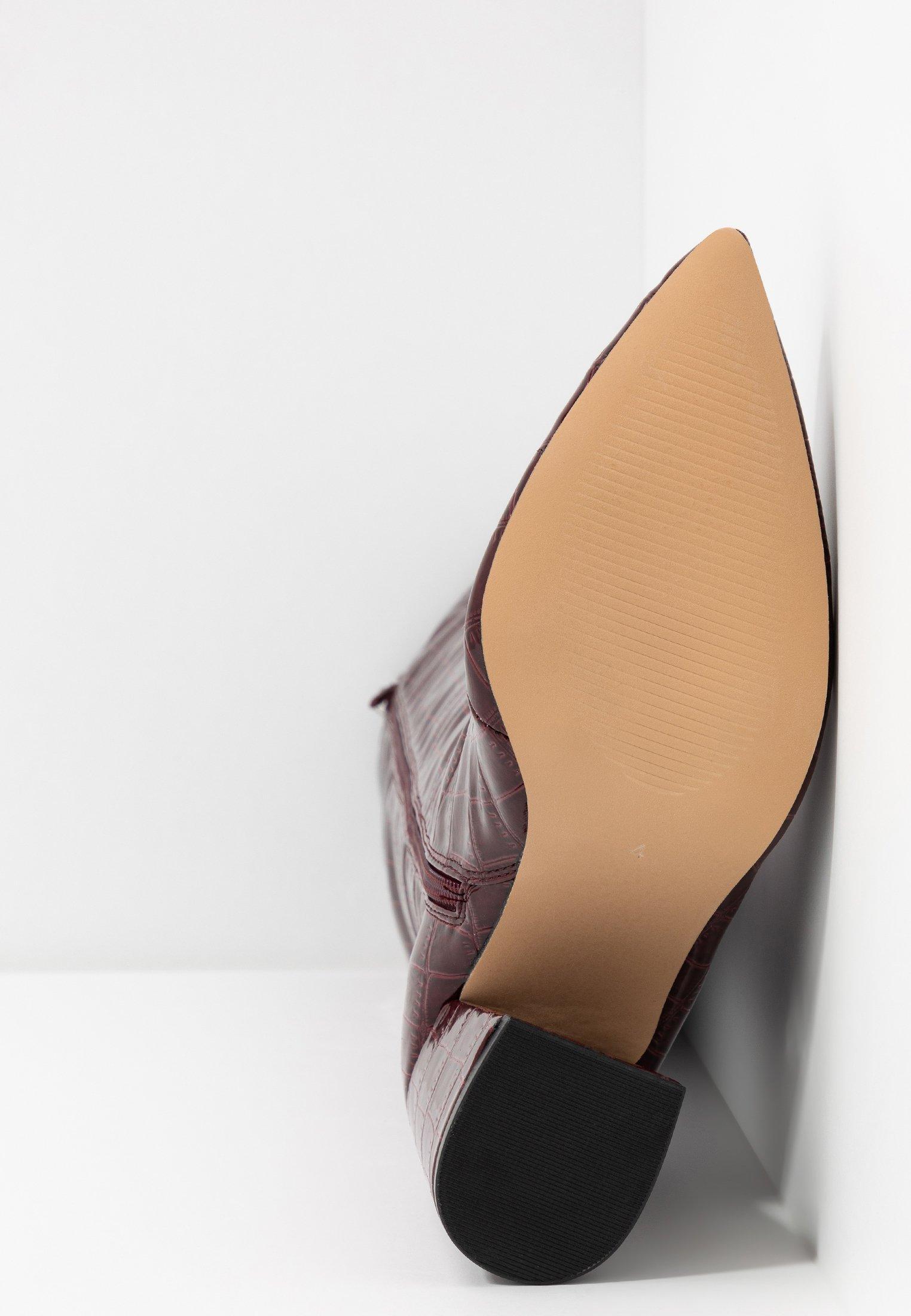 Miss Selfridge OLYMPIA POINT STRAIGHT SHAFTKNEE HIGH - Kozaki - burgundy