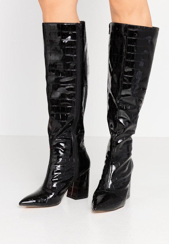 OLYMPIA POINT STRAIGHT SHAFTKNEE HIGH - Klassiska stövlar - black