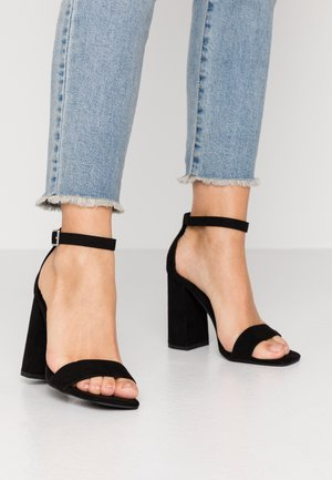 STEFFI - High heeled sandals - black