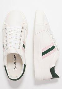 Miss Selfridge - TYPE STRIPE TRAINER - Trainers - white/pink/green - 3