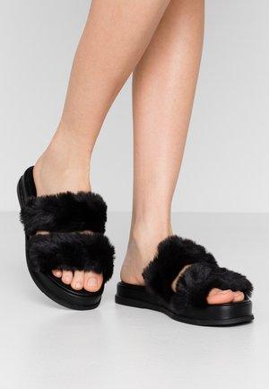 ELLE MULE - Slippers - black