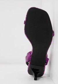 Miss Selfridge - SHAKIRA LOW STILETTO - Sandals - purple - 6