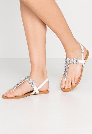 ELI BLING TOEPOST - T-bar sandals - white