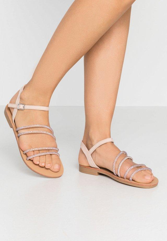 EVIE EMBELLISHED ASSYMETRIC  - Sandals - nude