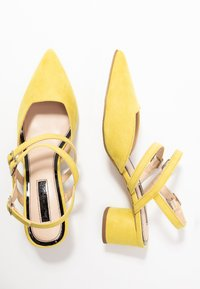 Miss Selfridge - DOUBLE STRAP LOW COURT - Avokkaat - lime - 3