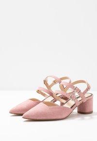 Miss Selfridge - DOUBLE STRAP LOW COURT - Klassieke pumps - pink - 4