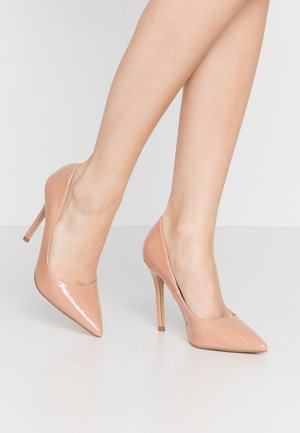 CATERINAPOINTED STILETTO COURT - Hoge hakken - nude eel